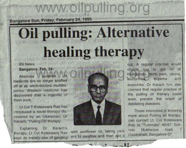 Books and References Oil Pulling - Wonderful Therapy