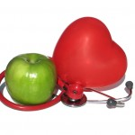 Apple heart and stethoscope